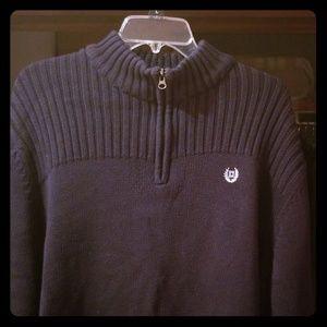 Men's Chaps, xxl Navy Blue Chaps 1/4 zip sweater